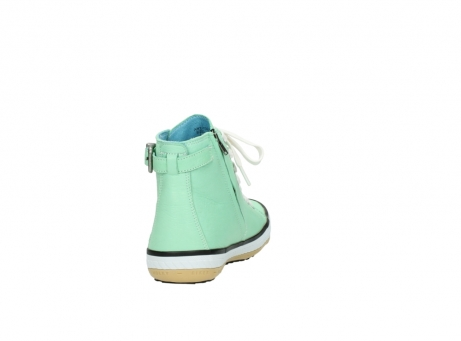 wolky lace up shoes 01225 biker 20790 mint green leather_8
