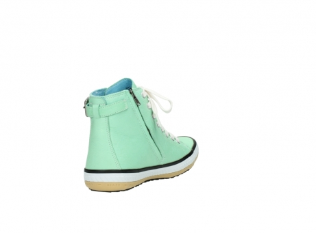 wolky lace up shoes 01225 biker 20790 mint green leather_9