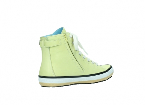 wolky lace up shoes 01225 biker 20900 light yellow leather_10