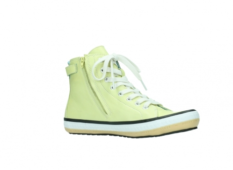 wolky lace up shoes 01225 biker 20900 light yellow leather_15