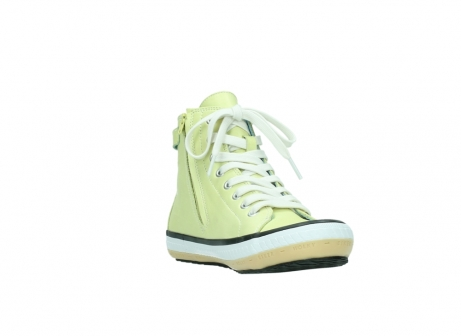 wolky lace up shoes 01225 biker 20900 light yellow leather_17