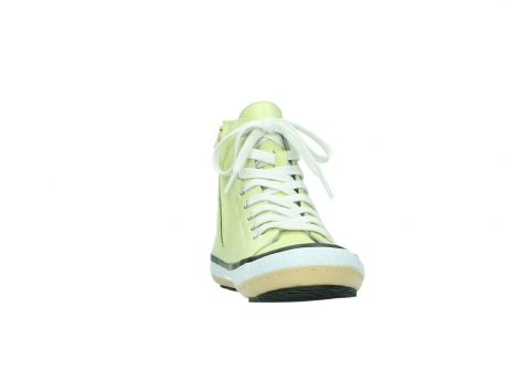 wolky lace up shoes 01225 biker 20900 light yellow leather_18