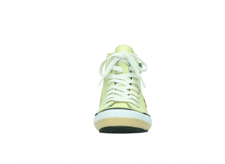 wolky lace up shoes 01225 biker 20900 light yellow leather_19
