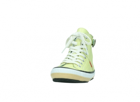 wolky lace up shoes 01225 biker 20900 light yellow leather_20