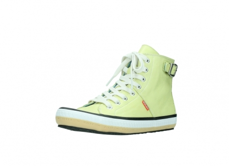 wolky lace up shoes 01225 biker 20900 light yellow leather_22