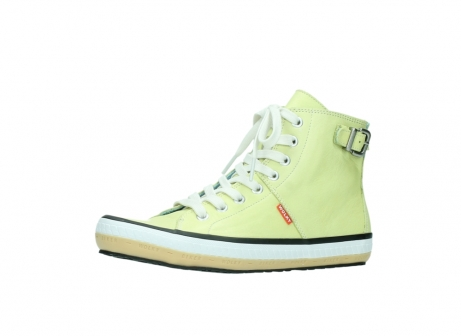 wolky lace up shoes 01225 biker 20900 light yellow leather_23