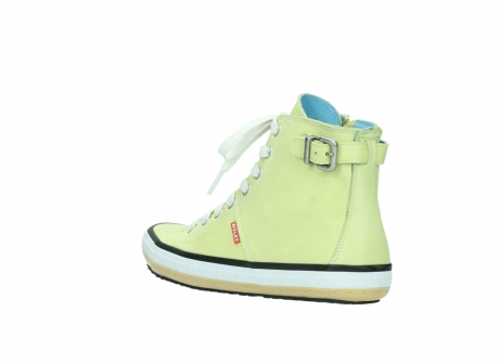 wolky lace up shoes 01225 biker 20900 light yellow leather_4