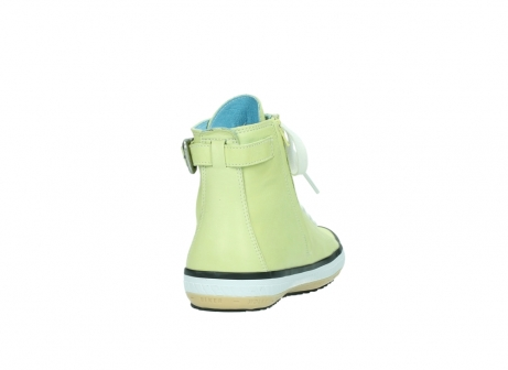 wolky lace up shoes 01225 biker 20900 light yellow leather_8