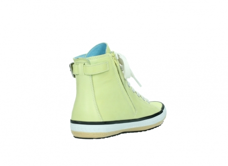 wolky lace up shoes 01225 biker 20900 light yellow leather_9