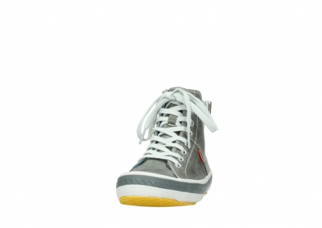 wolky lace up shoes 01225 biker 30200 grey leather_20