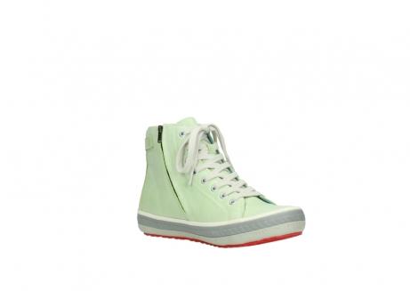 wolky lace up shoes 01225 biker 30750 lime leather_16