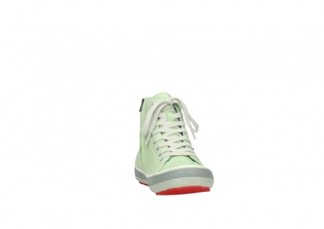 wolky lace up shoes 01225 biker 30750 lime leather_18
