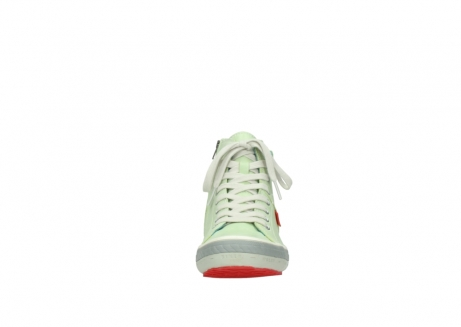 wolky lace up shoes 01225 biker 30750 lime leather_19