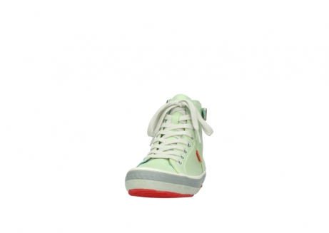 wolky lace up shoes 01225 biker 30750 lime leather_20