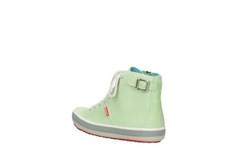 wolky lace up shoes 01225 biker 30750 lime leather_4