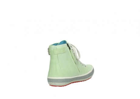 wolky lace up shoes 01225 biker 30750 lime leather_9