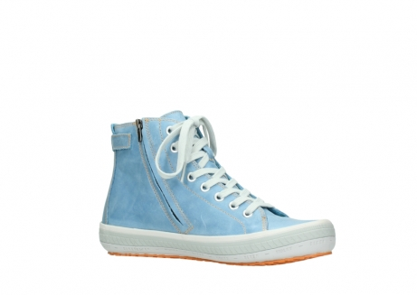 wolky lace up shoes 01225 biker 30840 jeans blue leather_15