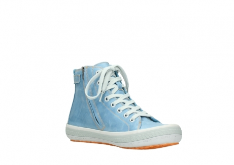wolky lace up shoes 01225 biker 30840 jeans blue leather_16