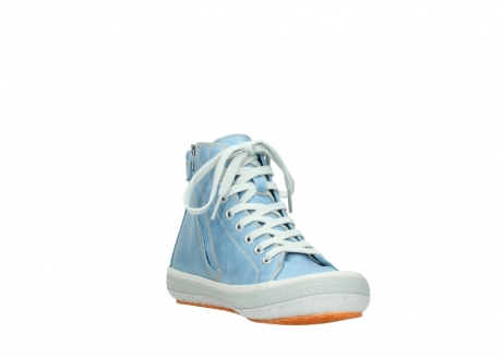 wolky lace up shoes 01225 biker 30840 jeans blue leather_17
