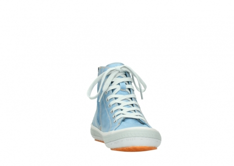 wolky lace up shoes 01225 biker 30840 jeans blue leather_18