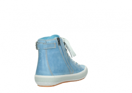 wolky lace up shoes 01225 biker 30840 jeans blue leather_9
