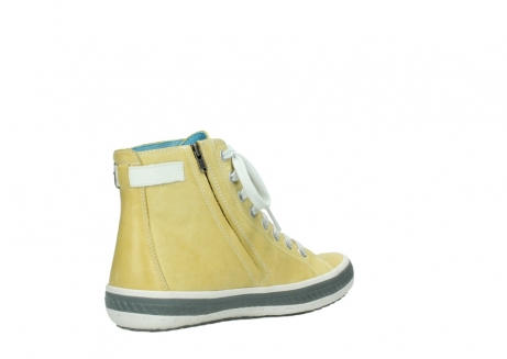 wolky lace up shoes 01225 biker 30920 light yellow leather_10