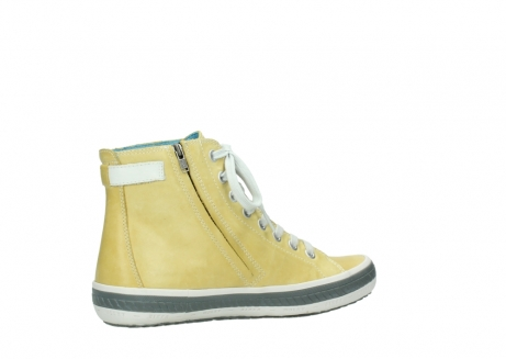 wolky lace up shoes 01225 biker 30920 light yellow leather_11