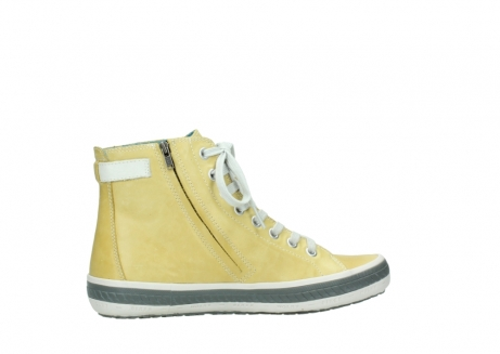 wolky lace up shoes 01225 biker 30920 light yellow leather_12