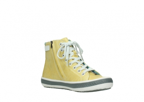 wolky lace up shoes 01225 biker 30920 light yellow leather_16