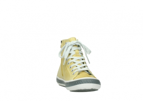 wolky lace up shoes 01225 biker 30920 light yellow leather_18