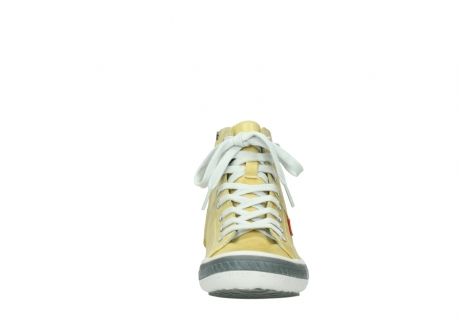 wolky lace up shoes 01225 biker 30920 light yellow leather_19