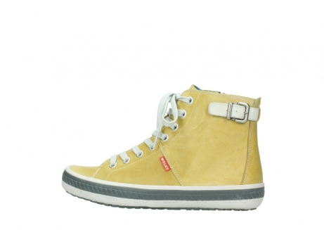 wolky lace up shoes 01225 biker 30920 light yellow leather_2