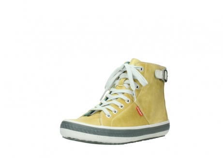 wolky lace up shoes 01225 biker 30920 light yellow leather_22