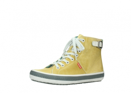 wolky lace up shoes 01225 biker 30920 light yellow leather_23