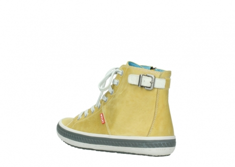 wolky lace up shoes 01225 biker 30920 light yellow leather_4