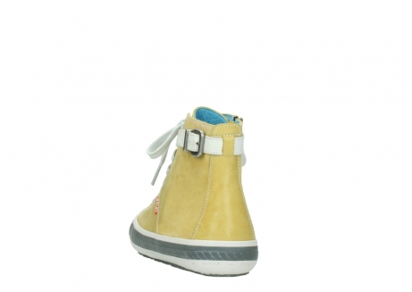 wolky lace up shoes 01225 biker 30920 light yellow leather_6