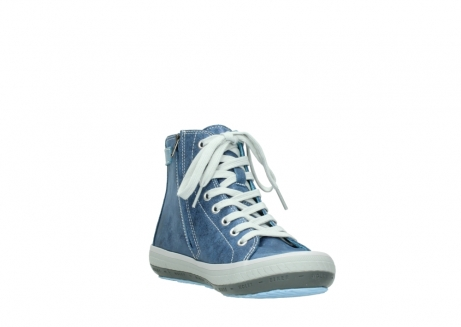 wolky lace up shoes 01225 biker 70800 blue leather_17