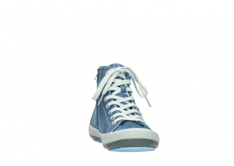 wolky lace up shoes 01225 biker 70800 blue leather_18