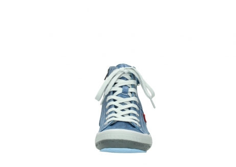 wolky lace up shoes 01225 biker 70800 blue leather_19