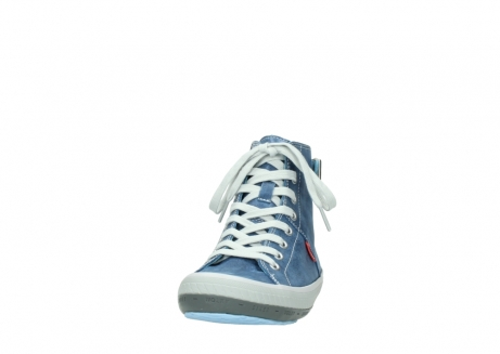 wolky lace up shoes 01225 biker 70800 blue leather_20