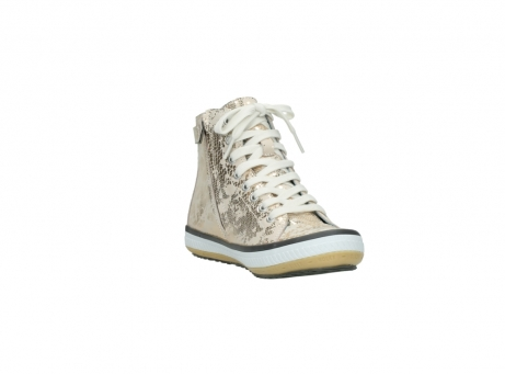 wolky lace up shoes 01225 biker 90140 gold metallic leather_17