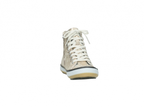 wolky lace up shoes 01225 biker 90140 gold metallic leather_18