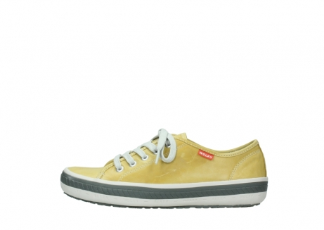 wolky chaussures a lacets 01227 giro 30920 cuir jaune clair_1