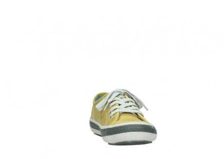 wolky chaussures a lacets 01227 giro 30920 cuir jaune clair_18