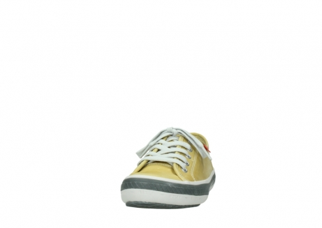 wolky chaussures a lacets 01227 giro 30920 cuir jaune clair_20