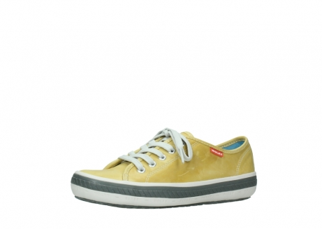wolky chaussures a lacets 01227 giro 30920 cuir jaune clair_23