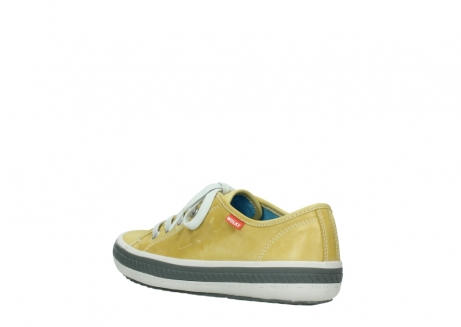wolky chaussures a lacets 01227 giro 30920 cuir jaune clair_4