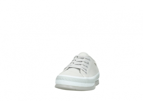 wolky lace up shoes 01230 linda 96206 light grey sand canvas_20