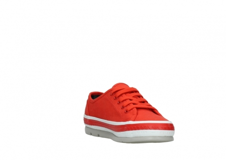 wolky lace up shoes 01230 linda 96500 red canvas_17