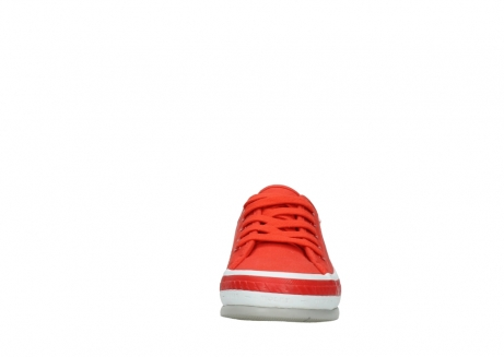 wolky lace up shoes 01230 linda 96500 red canvas_19